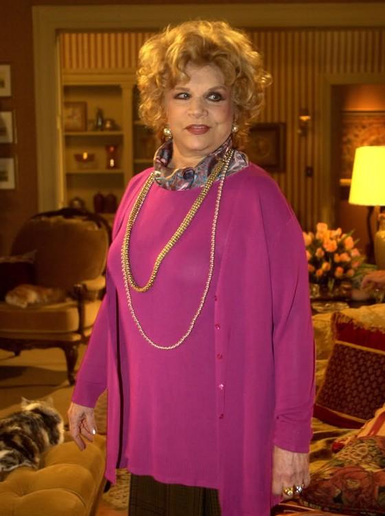 Tônia Carrero, quando fez uma participação na novela Senhora do destino, seu último trabalho na TV Globo  (Foto: Divulgação/ Rede Globo)