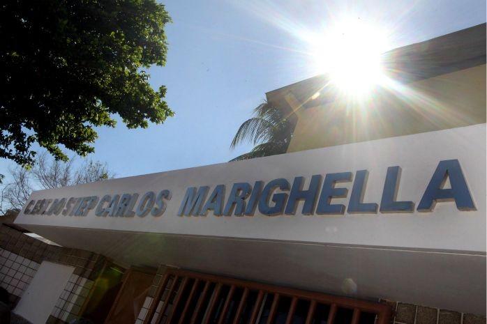 Mudança do nome da escola Colégio Estadual Stiep Carlos Marighella, na Bahia, é inaugurado (Foto: Mateus Pereira/GOVBA)
