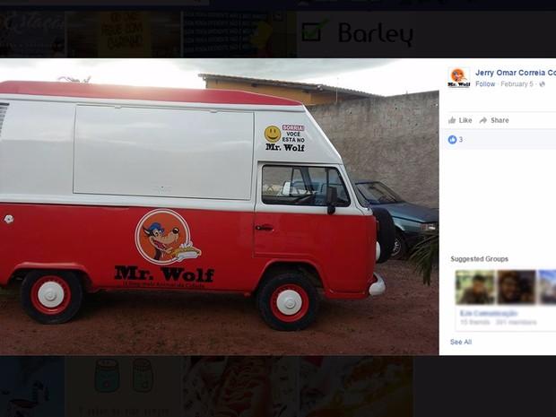 Imagem de foodtruck postada em rede social de vítima esfaqueada no Sudoeste (Foto: Facebook/ Reprodução)