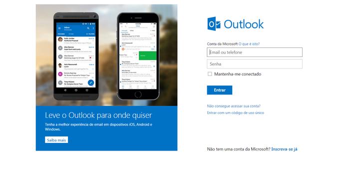 outlook login entrar email