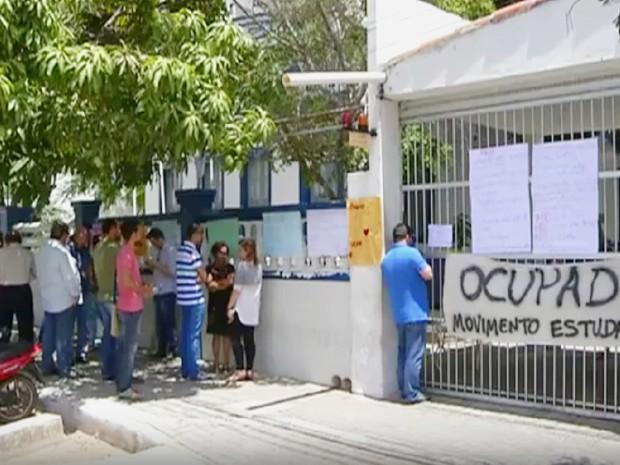 Campus da UERN em Mossoró passou uma semana ocupado (Foto: Inter TV Cabugi/Reprodução)