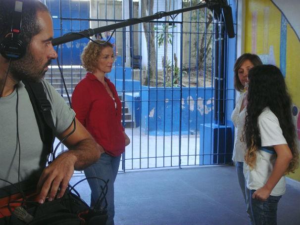 Bastidores Globo Educaçao sobre língua estrangeira (Foto: Divulgação)