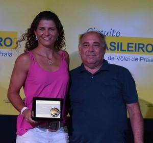 Larissa melhor jogadora da temporada circuito brasileiro de vôlei de praia (Foto: Matheus Vidal/CBV)
