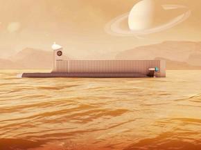 Espaçonave teria que orbitar Titan para possibilitar comunicações entre o submarino e a Terra (Foto: J.Glenn/Nasa/BBC)