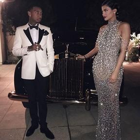 Kylie Jenner e o namorado, Tyga (Foto: Instagram/ Reprodução)