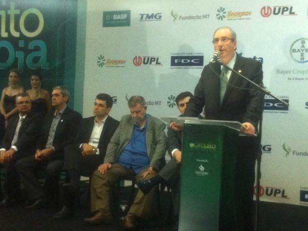 Eduardo Cunha, presidente da Câmara dos Deputados, participou de evento em Cuiabá (MT) (Foto: Amanda Sampaio/G1 MT)