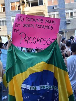 Clique de Augusto Miranda sobre manifestante solitário. (Foto: Divulgação/Augusto Miranda)