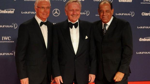 Prêmio Laureus - Carlos Alberto Torres, Presidente da Adidas e Beckenbauer (Foto: André Durão)