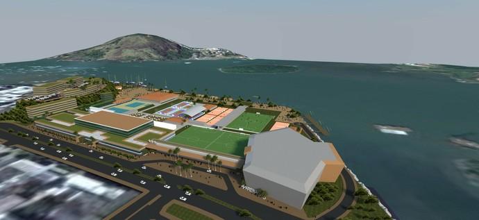 Área à esquerda da imagem, que atualmente é subutilizada, poderá abrigar um hotel com 114 apartamentos (Foto: Divulgação/Cristal Empreendimentos Imobiliários)