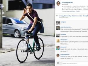 @marcogomes: Marco Gomes é um jovem empreendedor brasileiro e fundador da boo-box. Compartilha imagens de algumas de suas paixões no Instagram: empreendedorismo, bicicletas e temas nerds.  (Foto: Reprodução/Instagram/Marco Gomes )