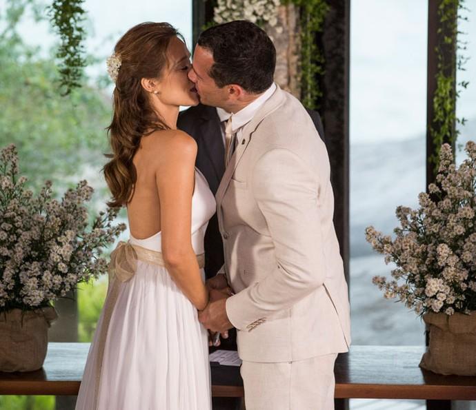 Tancinha e Apolo se casam! (Foto: Felipe Monteiro/Gshow)