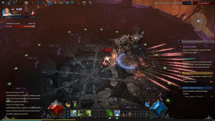 Os combates em dungeons e rifts são o grande desafio do game (Foto: Reprodução/Tais Carvalho)