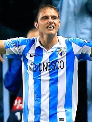 Joaquin Sanchez comemora gol do Málaga (Foto: Reuters)
