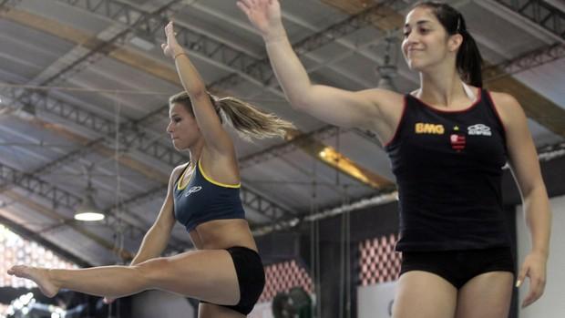 ginástica Jade Barbosa e Daniele Hypolito treino no Rio de Janeiro (Foto: Sergio Moraes / Reuters)
