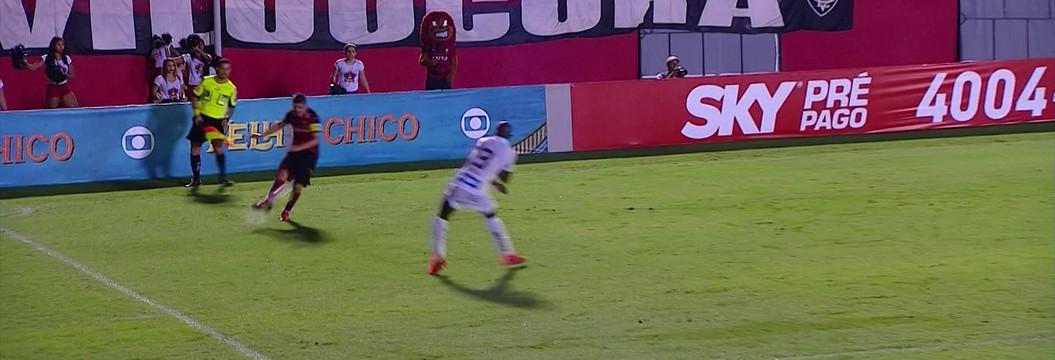 Vitória 2 x 3 Santos pela 16ª rodada do Brasileirão