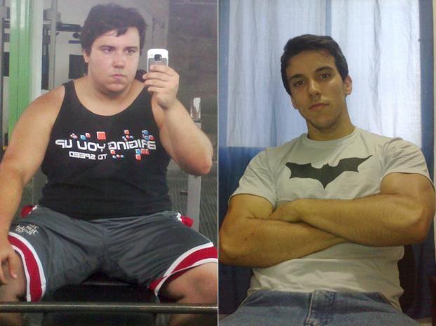 Aos 77 kg, ele fez as pazes com o espelho e se acostumou com os hábitos saudáveis (Foto: Arquivo pessoal)