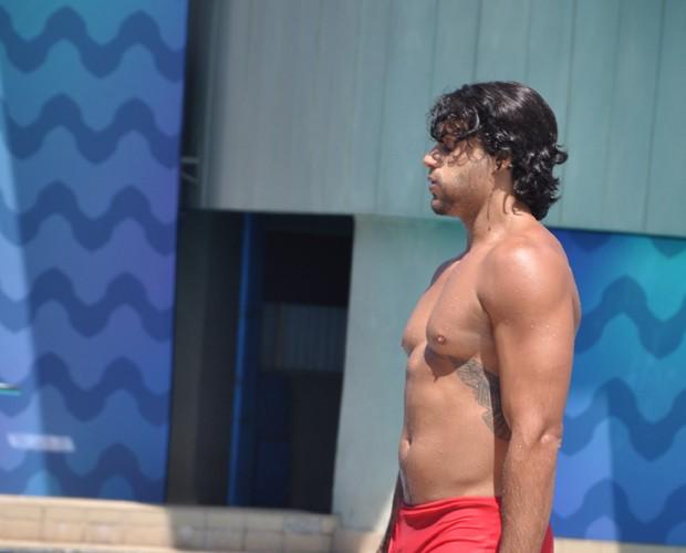 Jeus Luz durante treinos do Saltibum (Foto: Marina Siqueira/ Gshow)