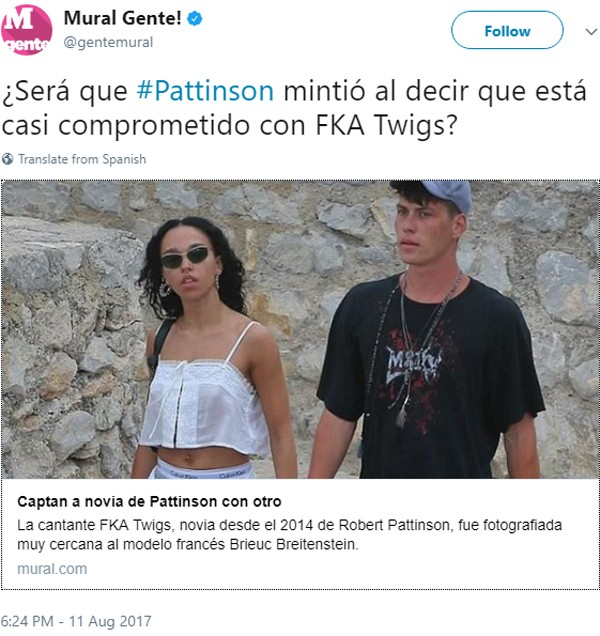 FKA e Pattinson (Foto:  )