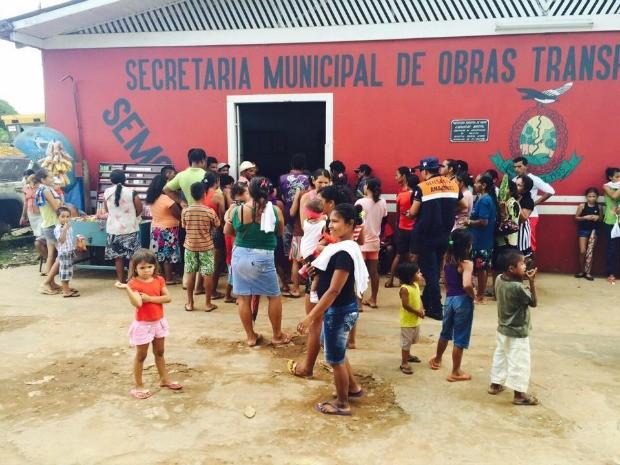 1.200 pessoas foram afetadas pela inundações na cidade (Foto: Defesa Civil/Divulgação)