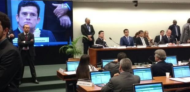Apresentação de Sergio Moro atrai deputados na Câmara  (Foto: Nonato Viegas)