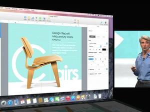 Executivo da Apple mostra novo MacOS X Yosemite (Foto: Divulgação/Apple)