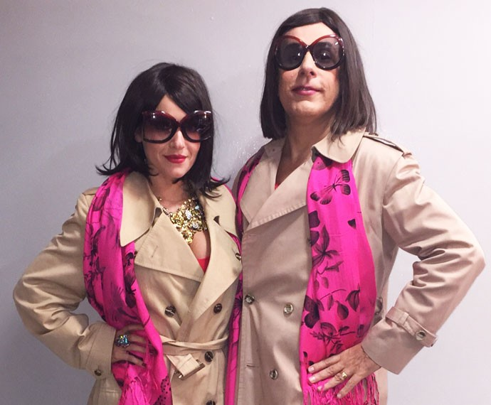Monique Alfradique e Tom Cavalcanti se fantasiam para peça de humor (Foto: Arquivo Pessoal)