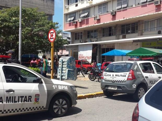 Suspeito de ter roubado advogados foi preso no bairro de Cidade Alta, zona Leste de Natal (Foto: Wendell Jefferson)