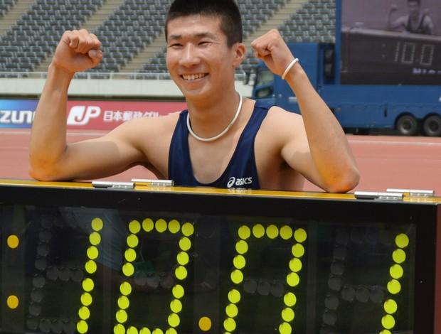 Yoshihide Kiryu velocista japonês (Foto: AFP)