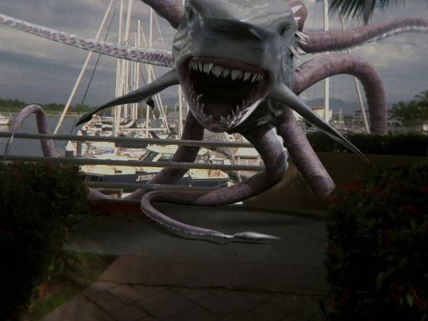 Cena de 'Sharktopus' (Foto: Divulgação)