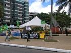 Manifestantes permanecem em vigília contra Dilma e Lula em Maceió