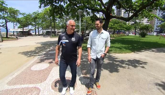 Dorival Junior conversou com o repórter Renato Cury (Foto: Reprodução TV Globo)