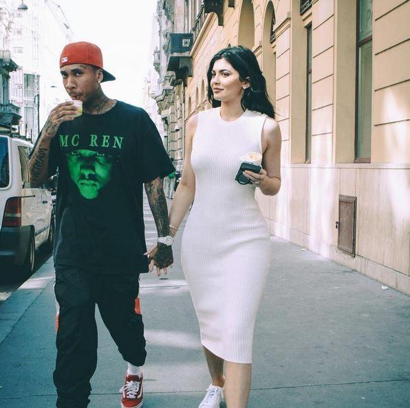 Kylie Jenner e Tyga (Foto: Reprodução)