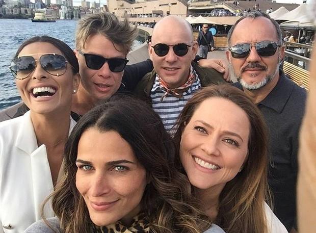 Juliana Paes, Fábio Assunção, Fernanda Motta, Marat Descartes, Humberto Martins e Vivianne Pasmanter (Foto: QUEM)