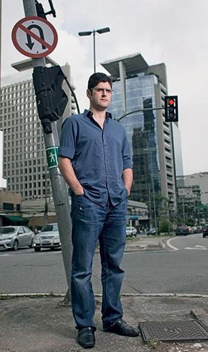 AGITADOR DIGITAL O empresário Rogerio Chequer, do Vem pra Rua, em São Paulo. O movimento atraiu 367 mil seguidores no Facebook (Foto: Camila Fontana/ÉPOCA)