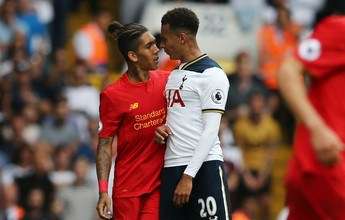 Liverpool de Firmino e Coutinho cede empate ao Tottenham em Londres