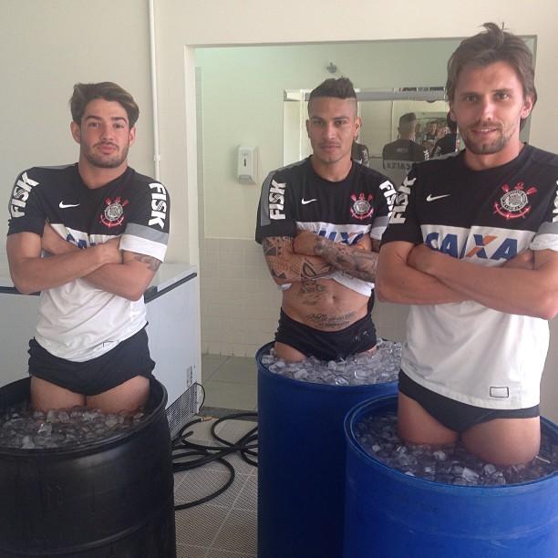 Alexandre Pato, Guerrero e Paulo André (Foto: Reprodução Instagram)
