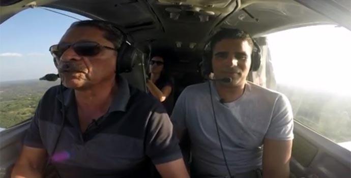 Nazareno Thé convida  Helder Vila para voo por Teresina (Foto: Reprodução/Rede Clube)