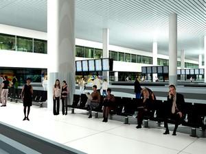 Perspectiva do plano de ampliação do aeroporto de Viracopos,em Campinas (SP) (Foto: Divulgação )