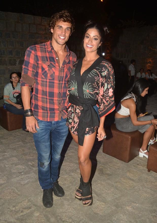 Aline Riscado e Felipe Roque (Foto: Felipe Souto Maior/AgNews)