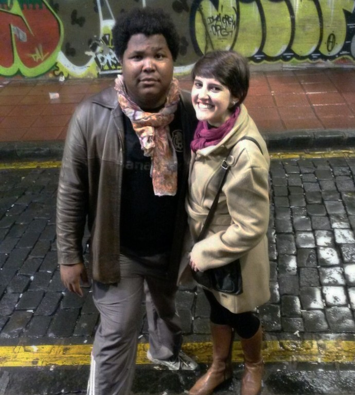 Ronan e amiga Cris Chaveirinho (Foto: Arquivo Pessoal)