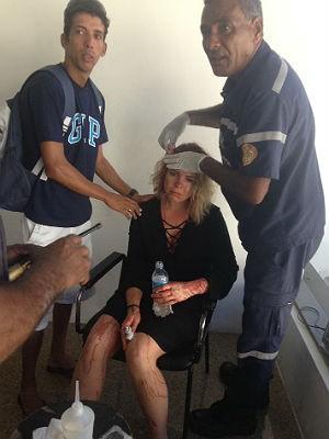 Turista Sérvia Vera Stefanovic é esfaqueada no Recife (Foto: Taciana Góes/Facebook)