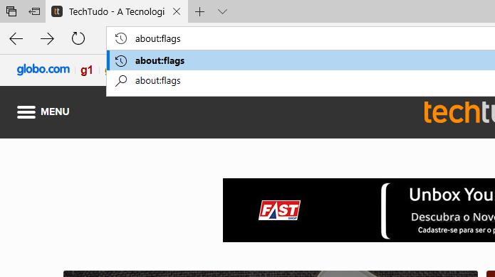 Acesse a página de configurações avançadas do Edge (Foto: Reprodução/Helito Bijora)