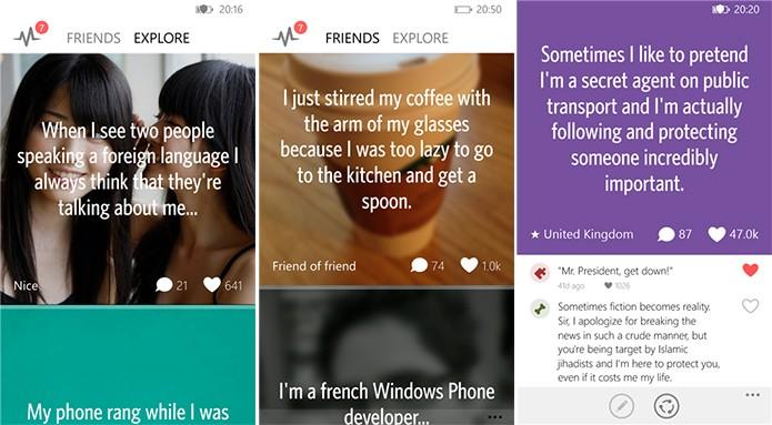 6cret é um cliente do Secret para Windows Phone no qual usuários podem compartilhar segredos (Foto: Divulgação/Windows Phone Store)
