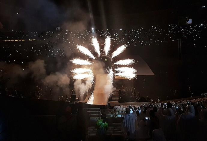 Cerimônia de abertura da Paralimpíada Rio 2016 - voo de Aaron Wheelz (Foto: Reprodução / Twitter @OllieW)