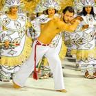 Jucutuquara joga capoeira (Weliton Aiolfi/ G1)