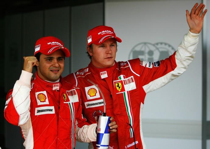 Felipe Massa foi companheiro de Kimi Raikkonen na Ferrari entre 2007 e 2009 (Foto: Getty Images)