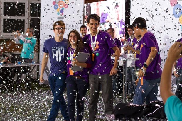 A equipe do HoloGlobo, vencedora do Hackathon na casa do 'BBB' (Foto: Divulgação / TV Globo)