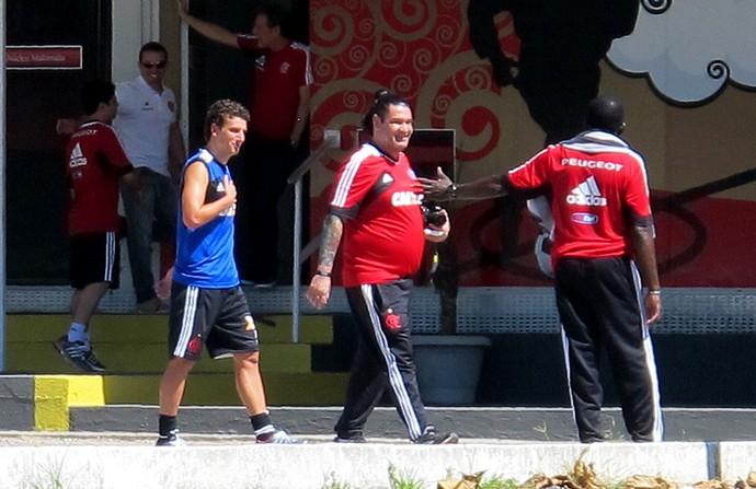 elano flamengo treino (Foto: Thales Soares)