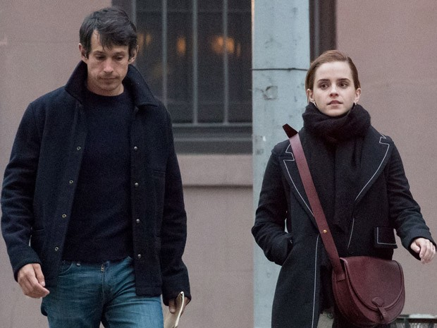 Emma Watson com o namorado, William Mack Knight  (Foto: Grosby Group)