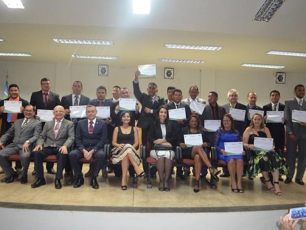 Eleitos foram diplomados no fórum da cidade (Foto: Divulgação/TRE-AP)